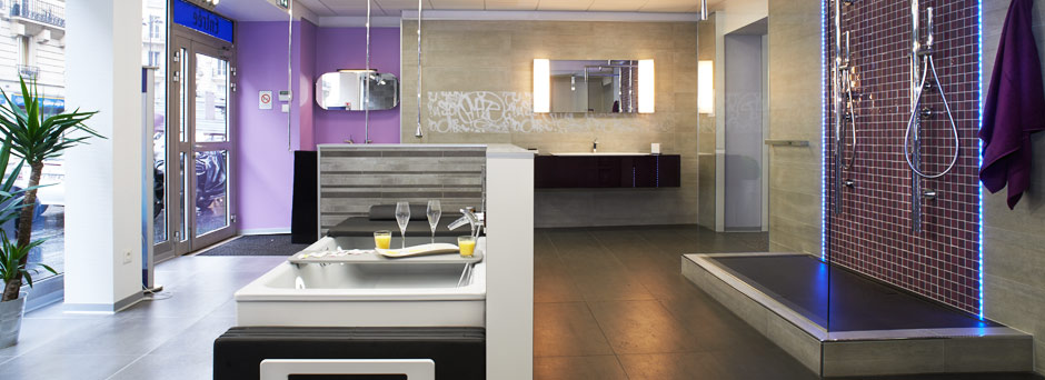 showroom salle de bain free dcouvrez notre showroom bziers centre with showroom salle de bain. Black Bedroom Furniture Sets. Home Design Ideas